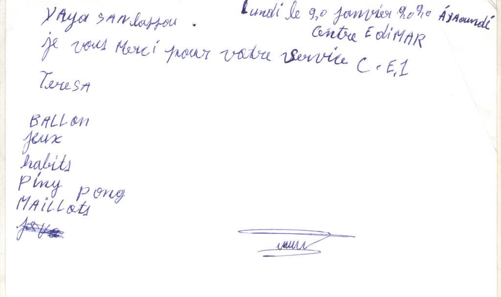 donateur lettre